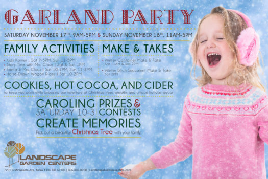 Landscape: 2018 Garland Party Poster